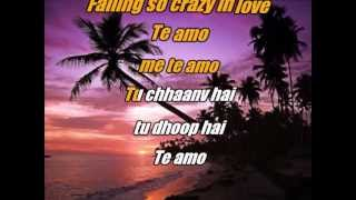 Te Amo - Dum Maro Dum - Karaoke with lyrics and lead