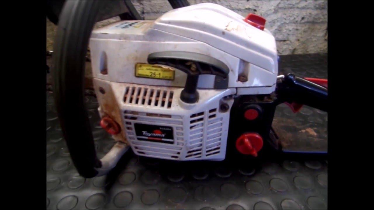 Motosserra Toyama TCS46H - Pega e afoga - Limpeza e Regulagem do Carburador - Testes