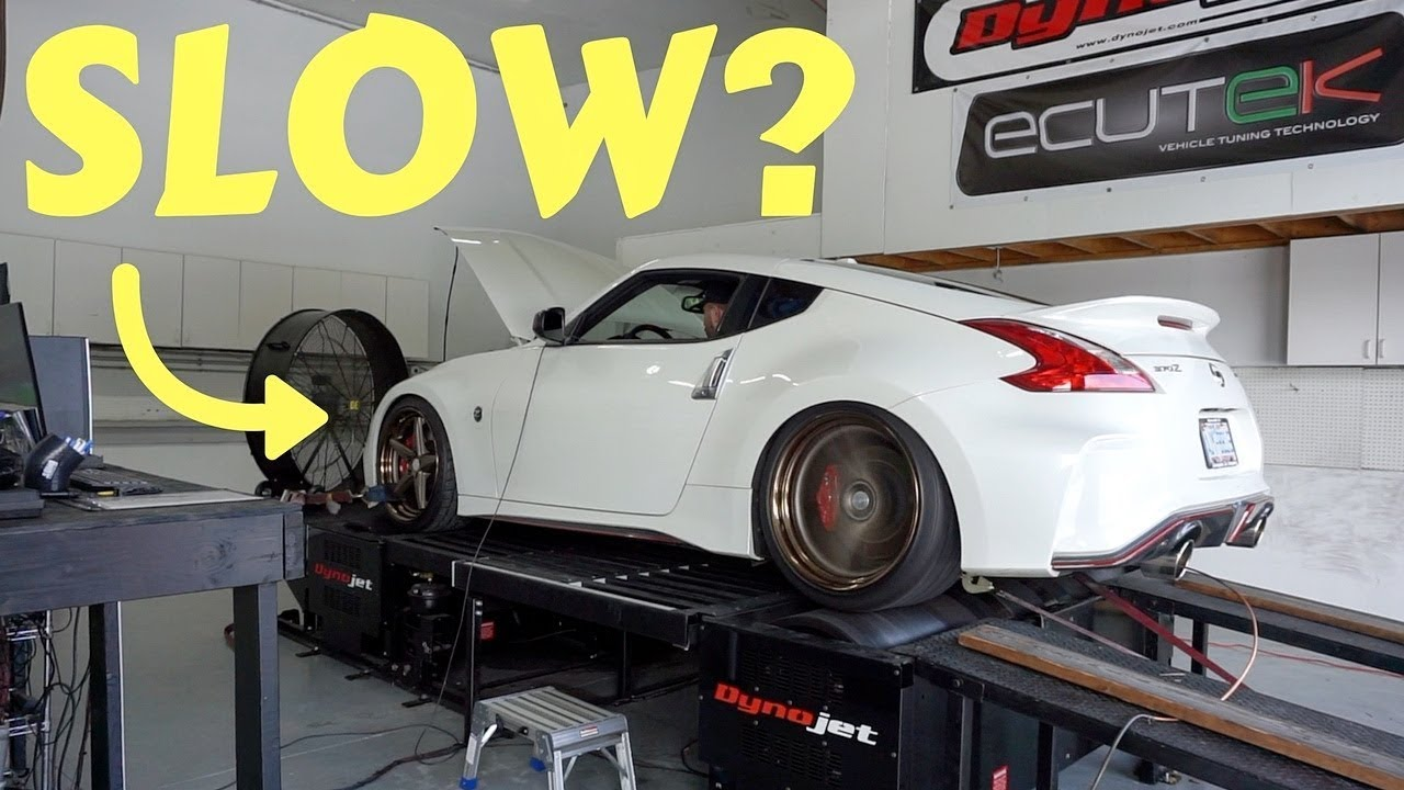 Nismo 370z Lost This Much Power From Heavy Wheels Shocking Youtube