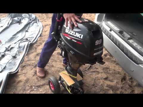 Outboard motor wheels
