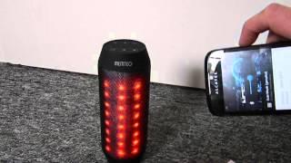 Led Disko Lautsprecher Bluetooth, FM Radio Sd MP3 Player Aux in Review Test Deutsch
