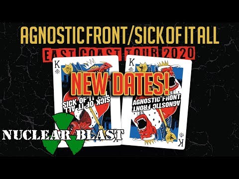 AGNOSTIC FRONT & SICK OF IT ALL - NEW DATES! East Coast Tour 2020 (OFFICIAL TRAILER)