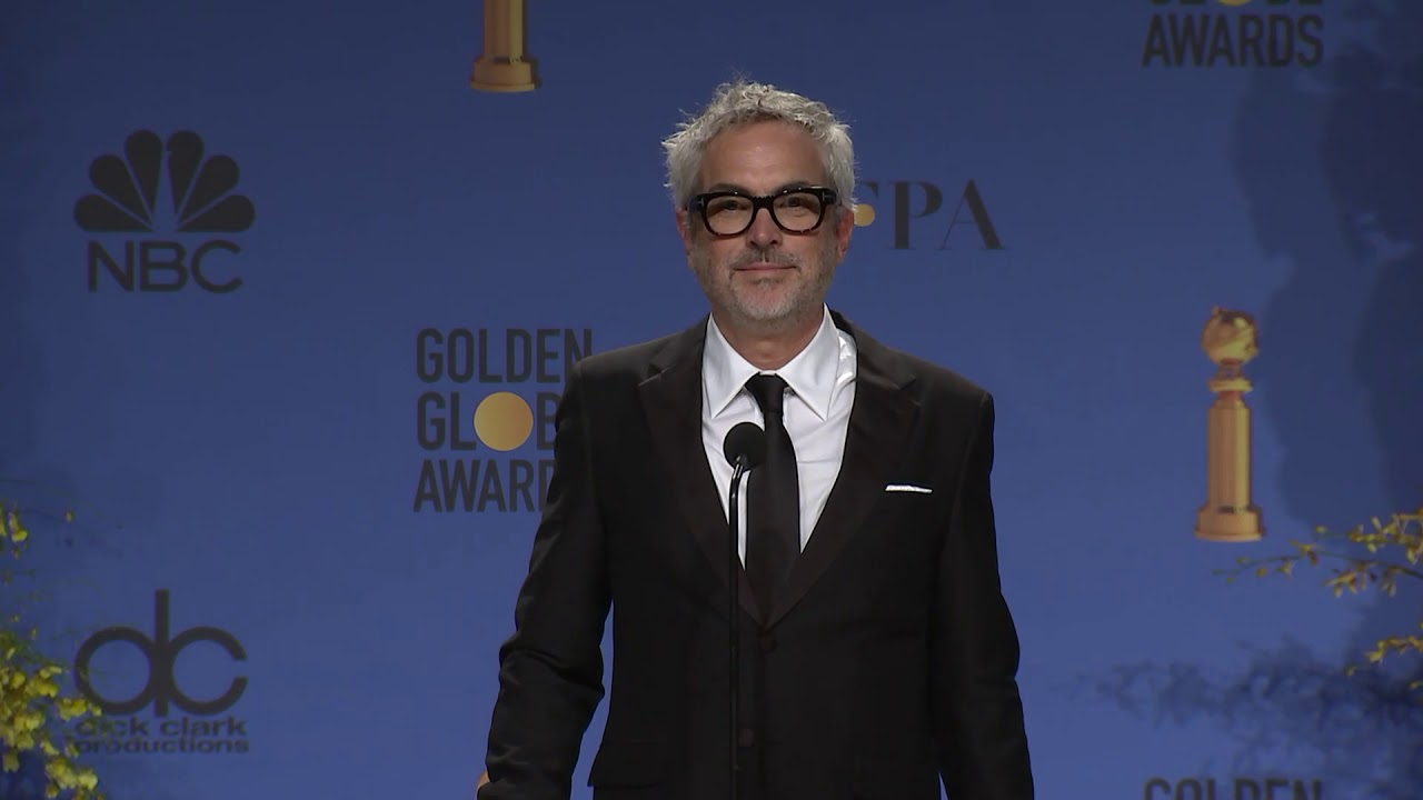 Alfonso Cuarón - Golden Globes - Full Backstage Interview