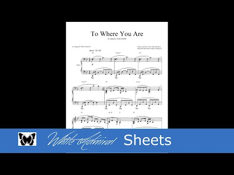 To Where You Are - Josh Grobin - Piano
