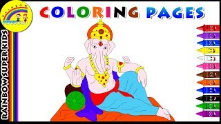 Coloring Pages for Kids | Learn Colors with Lord Ganesha | Best Coloring Pages for Kids