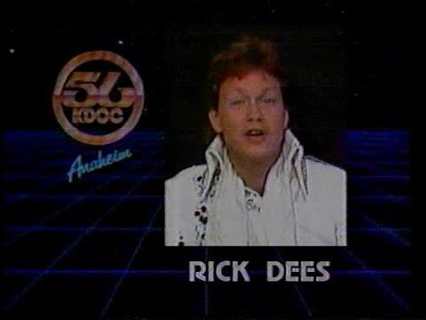 Rick Dees on Hot Seat - KDOC TV - 1986
