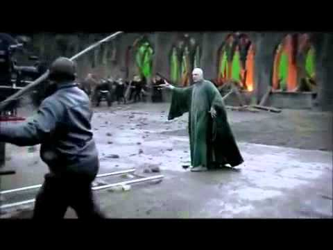Draco Malfoy saving Harry's ass and throwing him his wand 360p