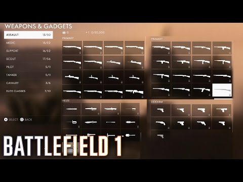 Battlefield 1 - All Weapons & Vehicles (Including Sidearms and Gadgets) SHOWCASE