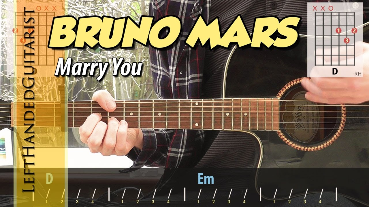 Bruno Mars Marry You Simple Guitar Lesson Youtube