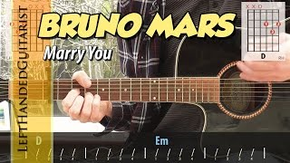 Bruno Mars - Marry You | simple guitar lesson