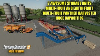 Farming Simulator 19 - 2 Huge Multi-Fruit Storage Units and Multi-Fruit Panther Combine