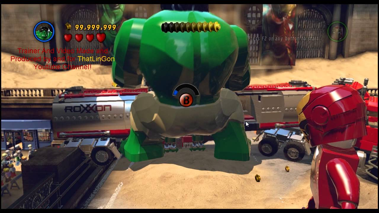Lego Marvel Super Heroes Cheat From Trainer Preview Youtube