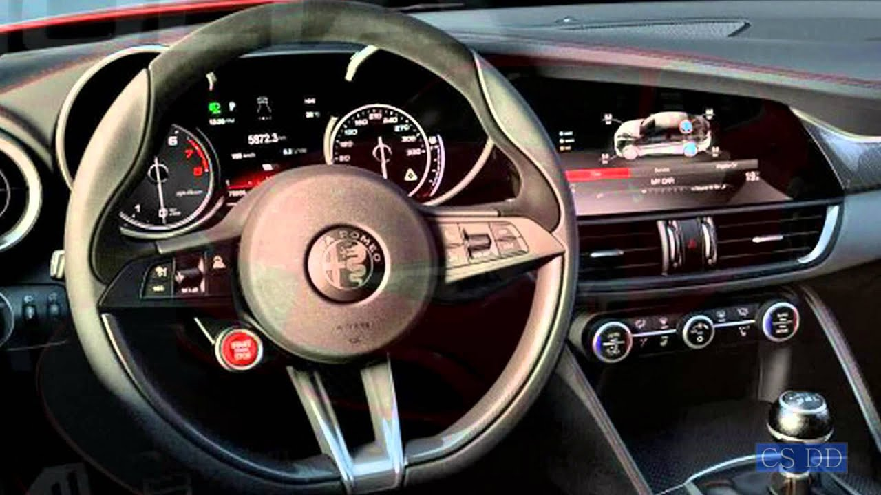 Alfa Romeo GIULIA QV INTERIOR VIDEO (Must See)   YouTube
