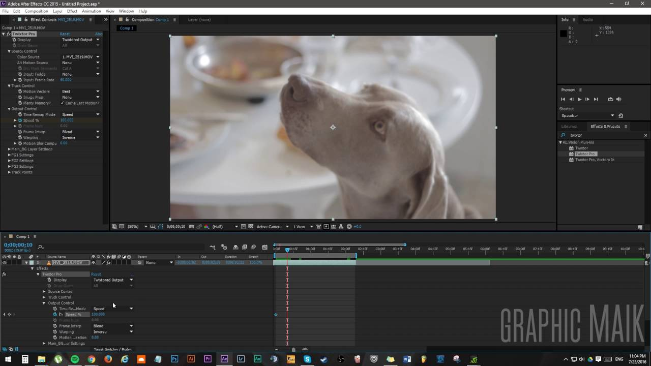 Watch How to Use Twixtor in After Effects CS5 video