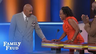Thanks for the date... but I gotta get home to my BOYFRIEND!!! | Family Feud