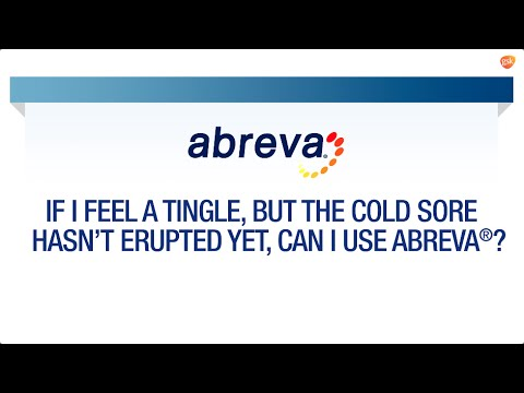Using Abreva® at the First Sign of a Cold Sore | Abreva® FAQ