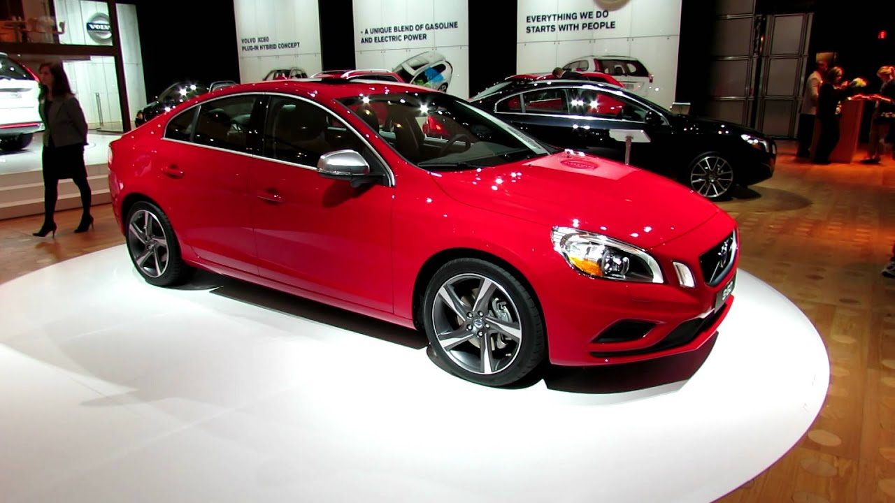 2012 volvo s60 t5 awd r design exterior and interior at 2012 new york international auto show. Black Bedroom Furniture Sets. Home Design Ideas