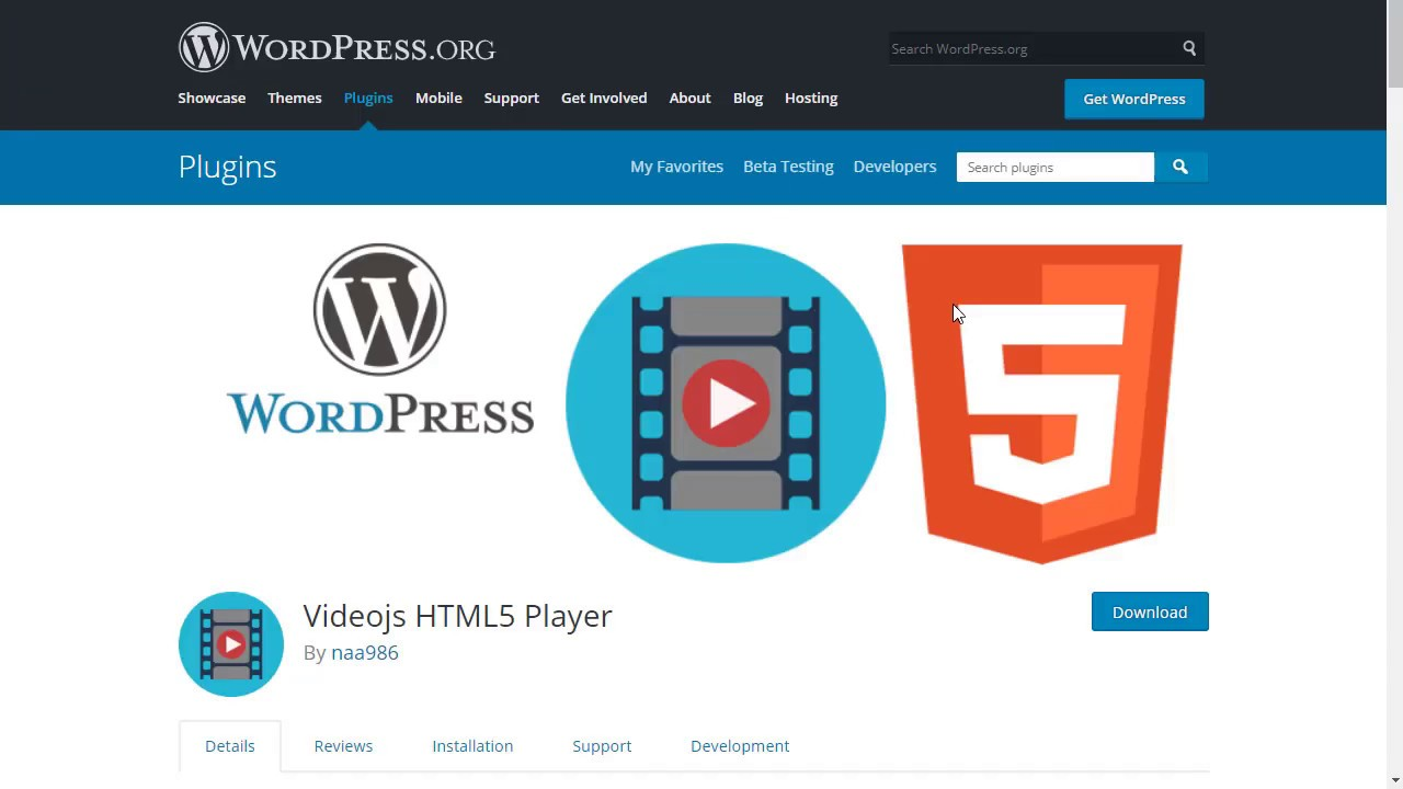 Videojs HTML5 Player – WordPress plugin | WordPress org