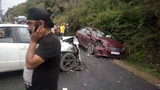 The Maruti Sx4 Hit Honda City Car Accident, Naldehra, Shimla, Himachal - India