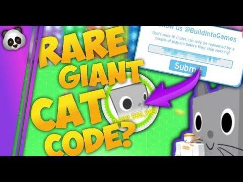 roblox pet simulator huge cat codes