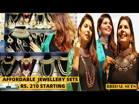 affordable-artificial-and-bridal-jewellery-set-collection-|-jewellery-wholesale-market-sadar-bazar