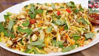GỎI CHAY - Cách trộn Gỏi Xoài cho người ăn Chay hay ăn mặn đều được by Vanh Khuyen
