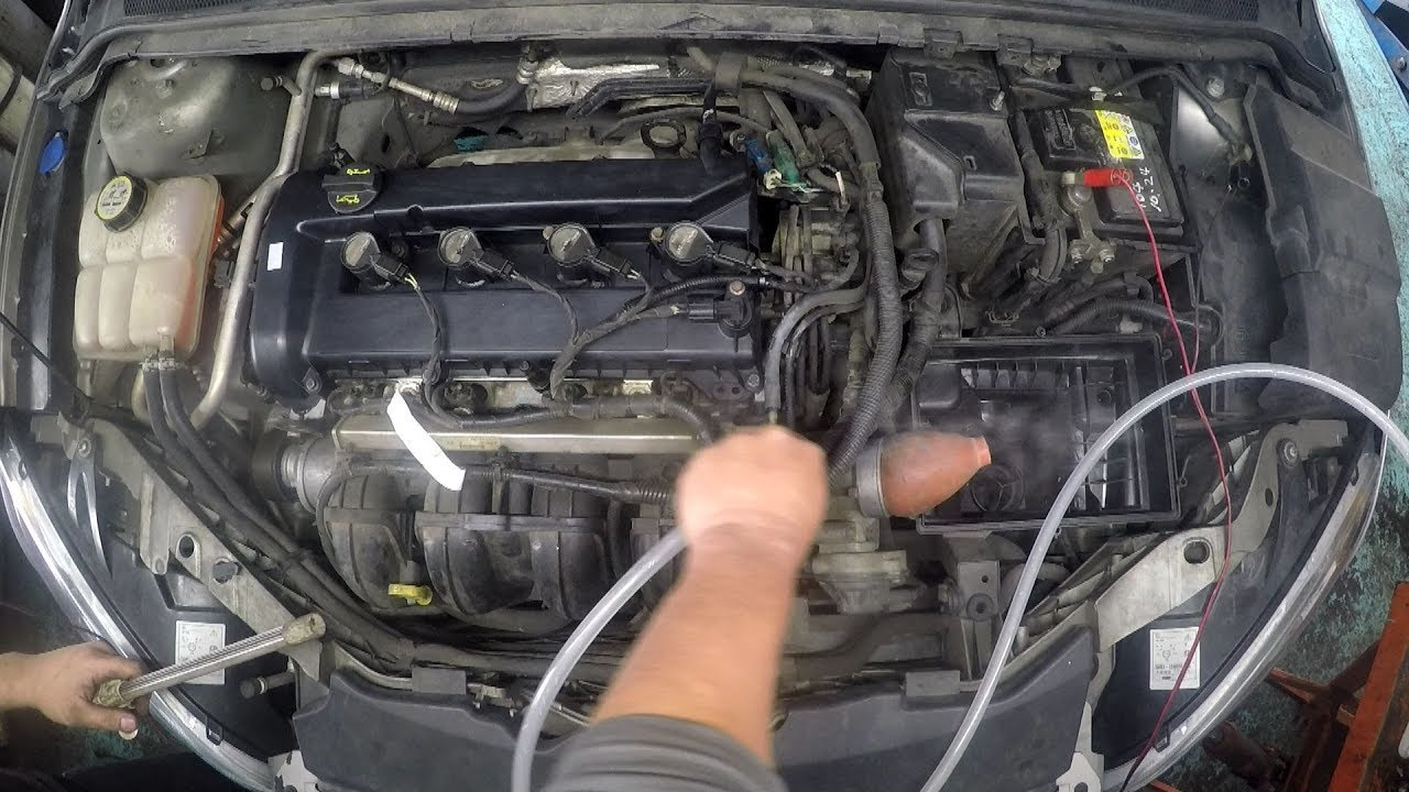 intake manifold vacuum hose leak & how to replace pcv hose ford focus 2 0l  2005~ he mi4 4f27e