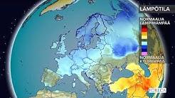 Kuukausiennuste lämpötiloista 20.3.2018: Kylmä sää Euroopassa jatkuu