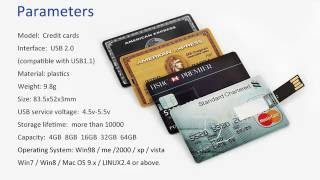 видео Флешки на заказ в виде Кредитных карт / Каталог