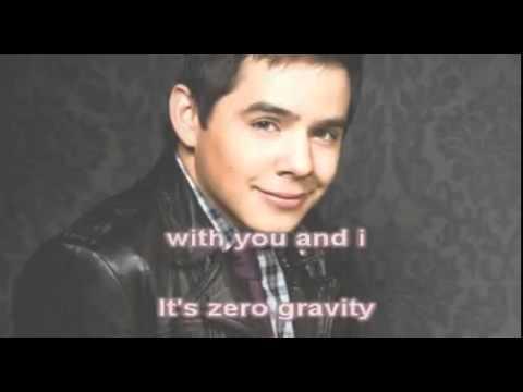 David Archuleta Zero Gravity Karaoke w/Onscreen_Lyrics