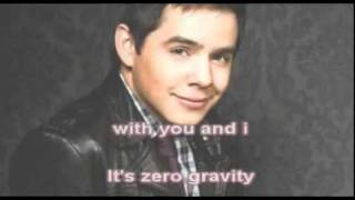 David Archuleta Zero Gravity Karaoke w/Onscreen_Lyrics