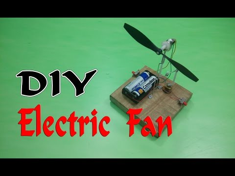 How To Make A Mini Electric Fan Auto Rotation