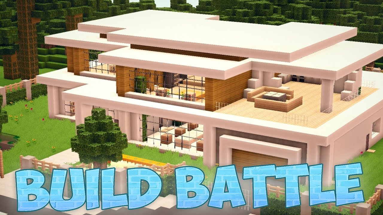 Una casa moderna xd minecraft build battle youtube for Casa moderna 1 8