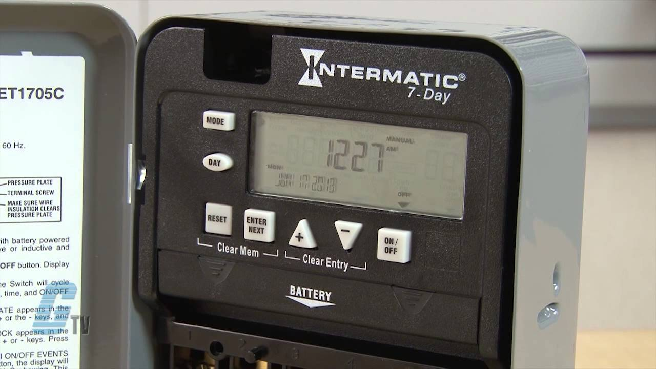 intermatic et1700 series time switch timing relay youtube. Black Bedroom Furniture Sets. Home Design Ideas