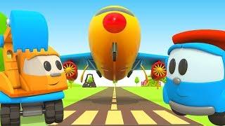 Leo der Lastwagen Cartoon - Ein Flugzeug für die Roboter - Zeichentrickfilm für Kinder