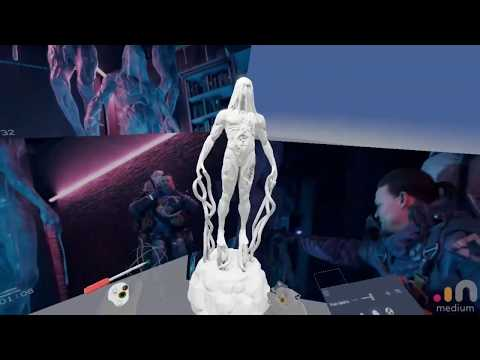 Sculpting BT From Death Stranding For 3d Print (free Stl)