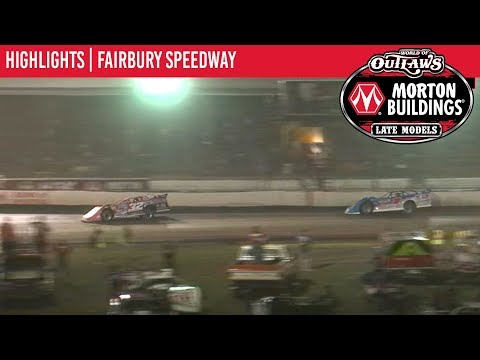 World of Outlaws Morton Buildings Late Models Fairbury Speedway July 27th, 2019 | HIGHLIGHTS
