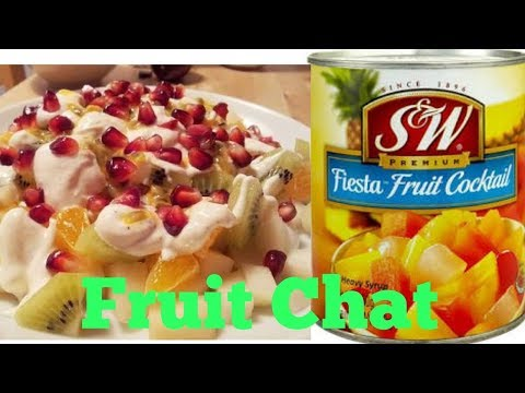 Creamy Fruit Chat With Tin Fruits In 10 Mins||Ramzan Special