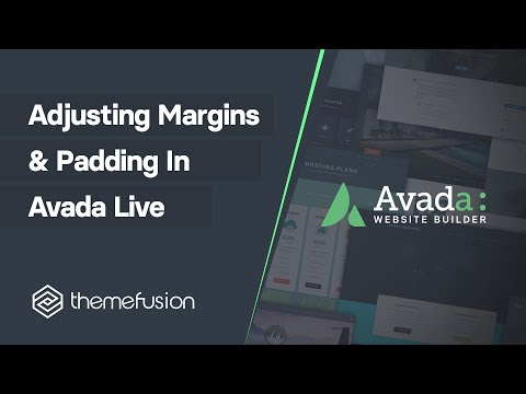 Adjusting Margins & Padding in Fusion Builder Live Video