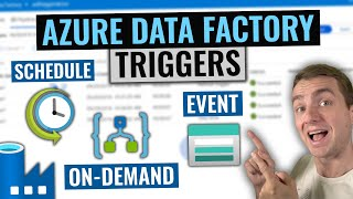 Azure Data Factory Triggers Tutorial | On-demand, scheduled and event based execution