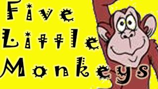 Five Little Monkeys Jumping on the Bed, Nursery Rhyme Songs by THE LEARNING STATION