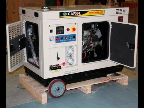 10kva diesel generator watercooled with build ats youtube. Black Bedroom Furniture Sets. Home Design Ideas