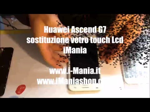 Huawei Ascend G7 sostituzione vetro lcd repair glass
