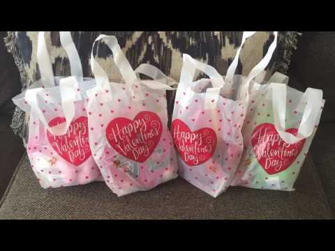 Valentine's Day. My husbands and kids gift basket from Dollar Tree! Family/life vlog.