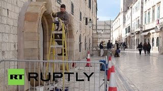 Croatia: Construction work for Star Wars: Episode VIII set launches in Dubrovnik(Decorations and props were installed in the old town of Dubrovnik, Wednesday, for the set of a Star Wars: Episode VIII scene that will be shot in the Croatian city., 2016-02-24T20:22:20.000Z)