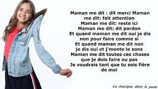Angelina Maman me dit lyrics