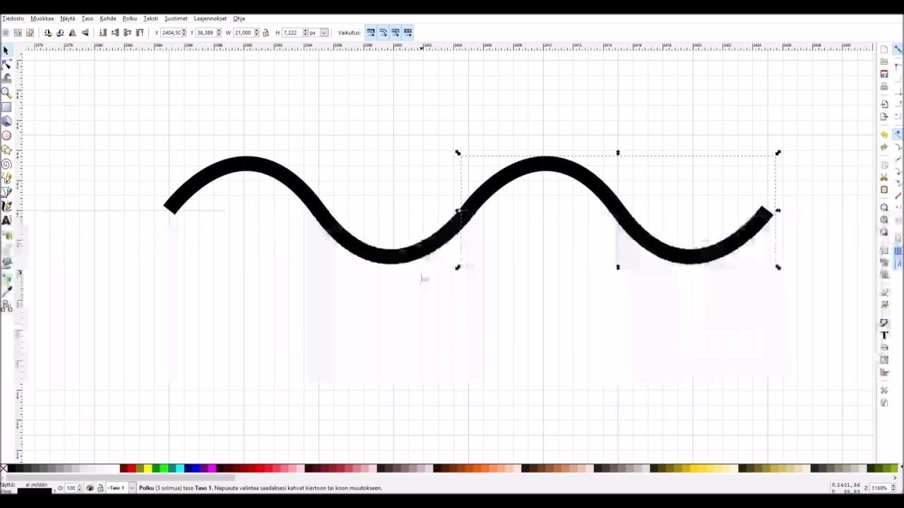 Drawing Lines With Inkscape : Drawing a wave in inkscape youtube