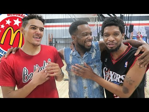 CashNasty & OprahSide Vs Trae Young (2017 McDonald 3 Point Basketball Shot Contest Winner)