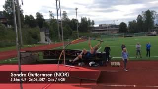 Sondre Guttormsen (NOR) - National Junior Record in the Pole Vault