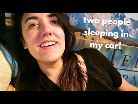 SLEEPING IN MY CAR WITH ANOTHER PERSON | Katie Carney